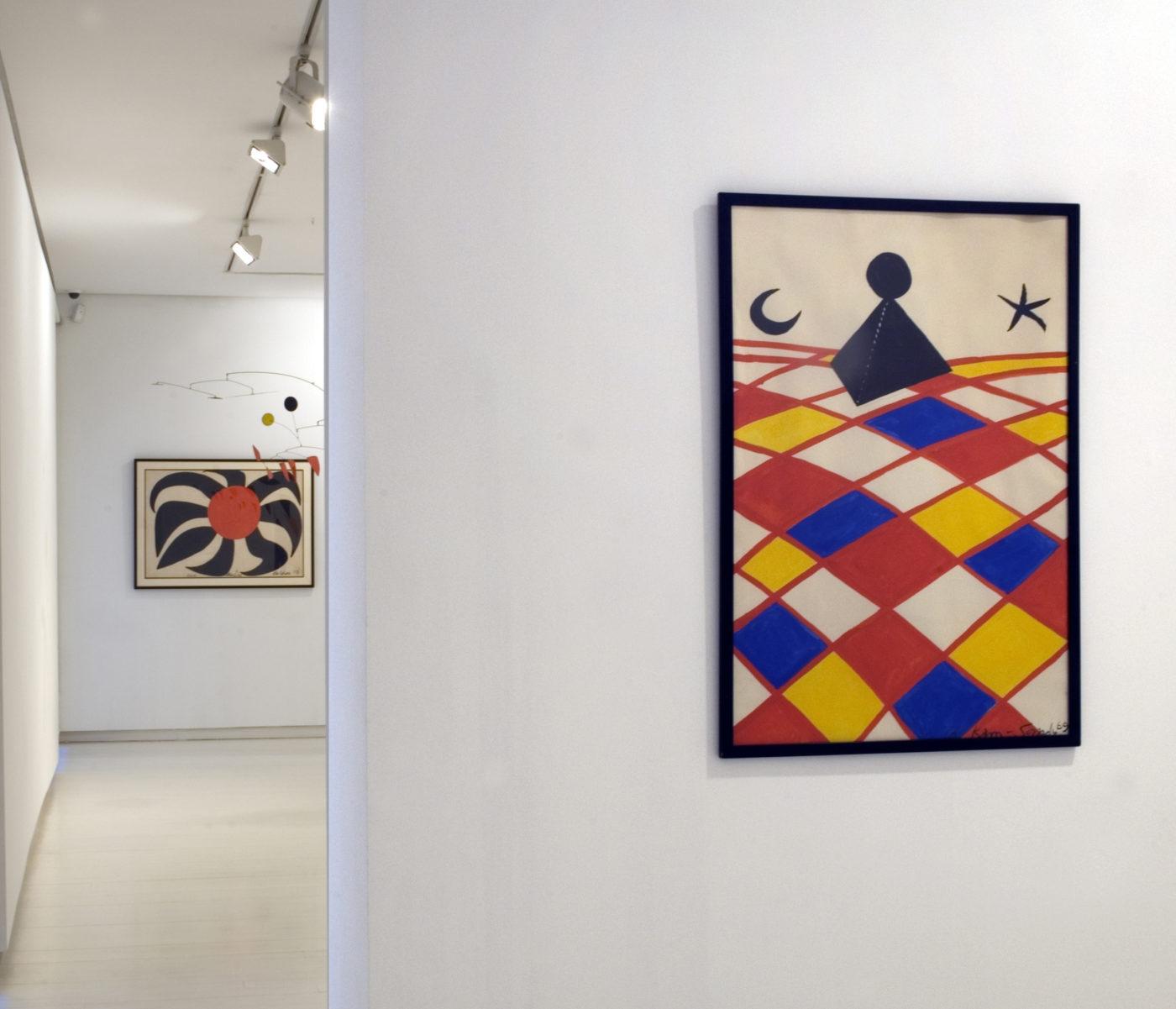 Alexander Calder. Vista de la exposición en la Galería Elvira González en el año 2010