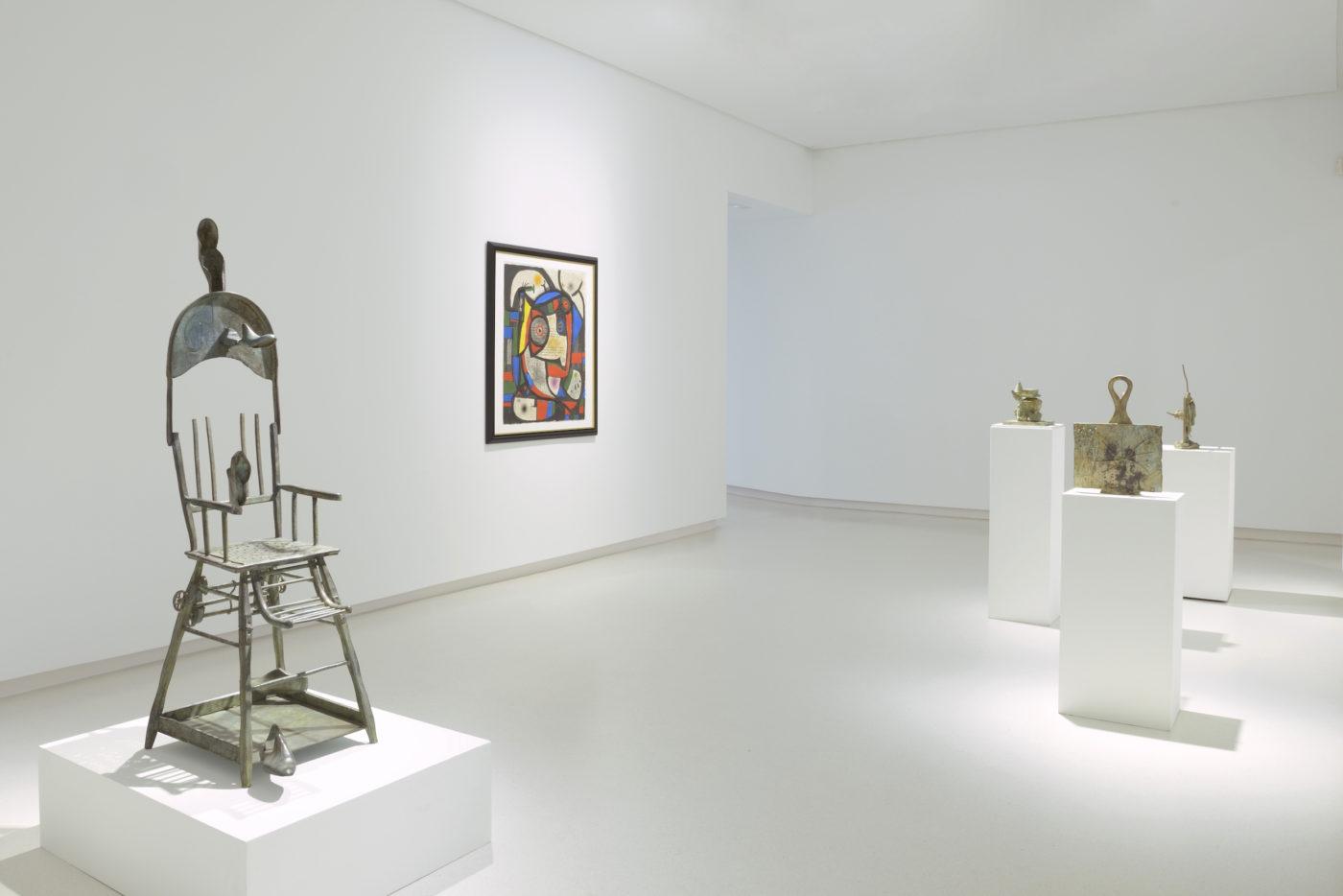 Vistas de la exposición Joan Miró, 2017 Galería Elvira González