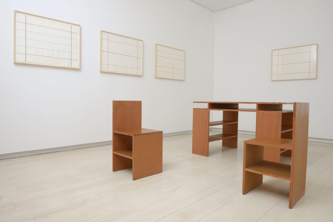 Donald Judd – Vista de la exposición, 2016 © Galería Elvira González.