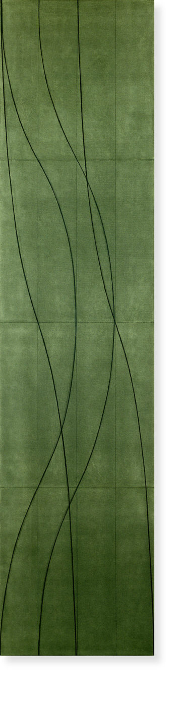 Robert Mangold painting titled Double line column #7, from year 2005